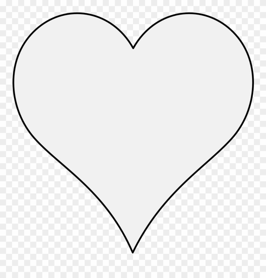 Pdf White Heart Icon Transparent Background Clipart 3325218
