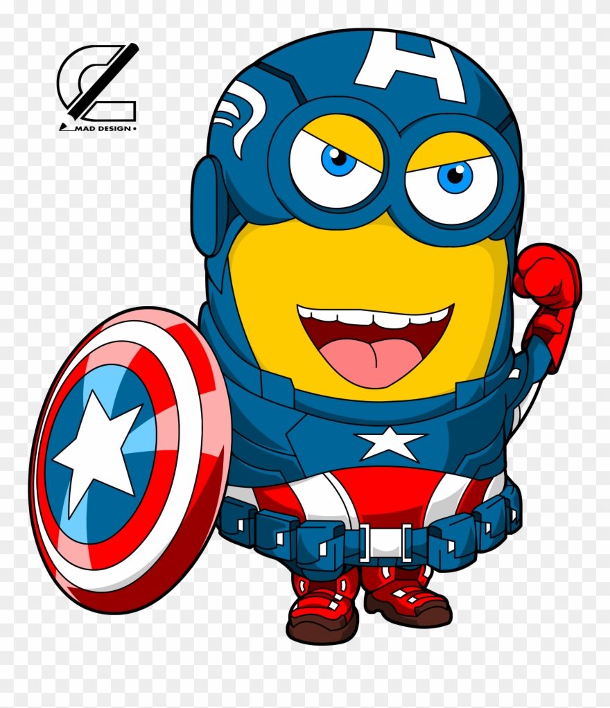 Captain America Clipart Minion - Minions Captain America