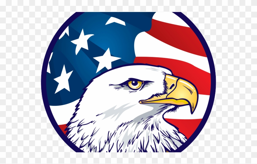 Drawn American Flag Transparent Background American Eagle Clipart