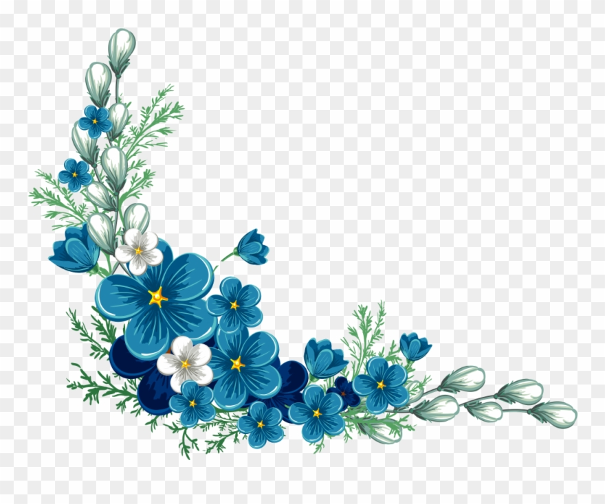 Flower Border Design Transparent Background Clipart