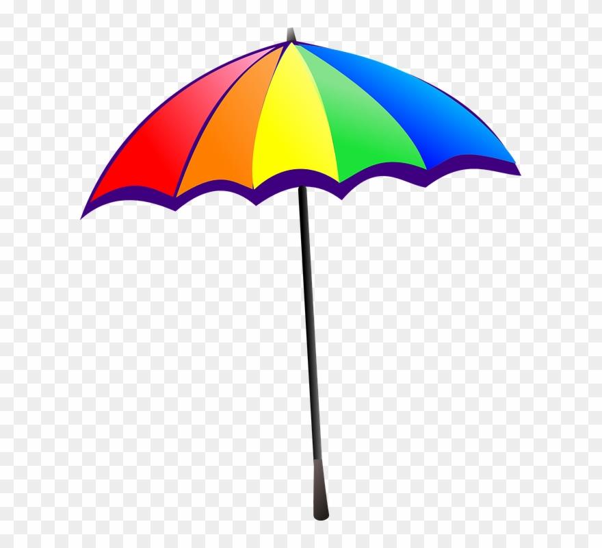 Umbrella Rainbow Colorful Sun Clip Art Png