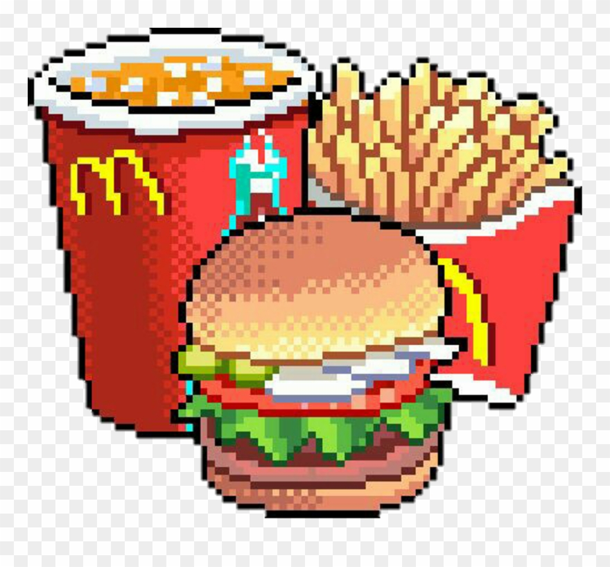 Mcdonald Sticker Pixel Food Transparent Clipart 3343496
