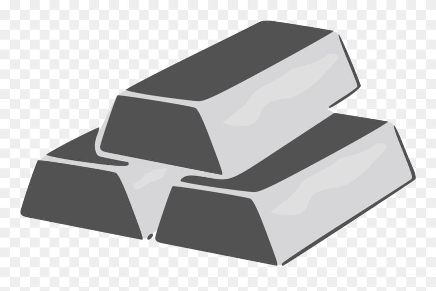 Silver Clipart Silver Bar - Silver Brick Clip Art - Png ...