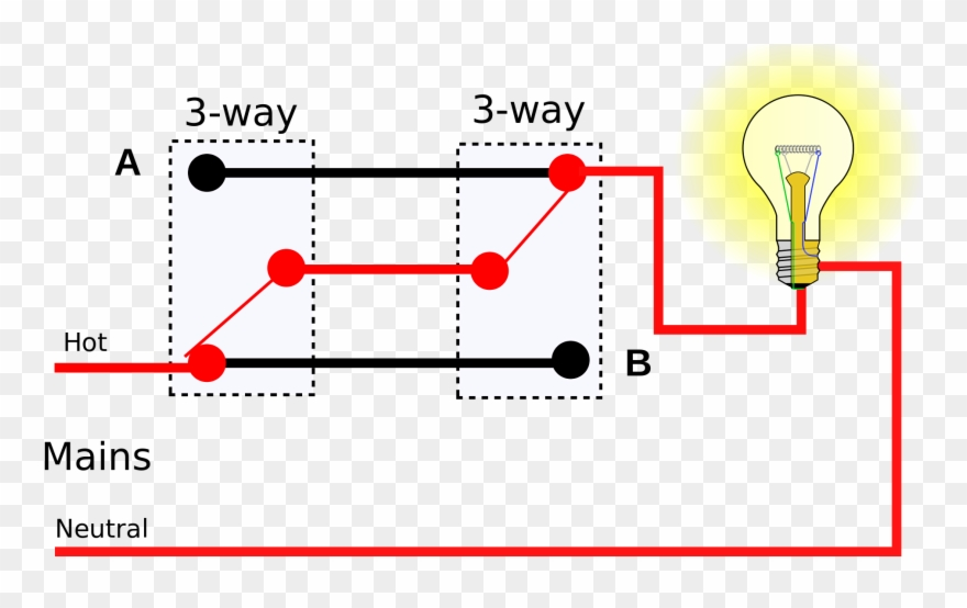 three way electrical switch wiring diagram floralfrocks - simple wiring  diagram of 2 way switch clipart