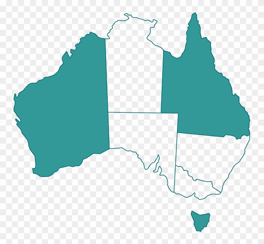 Australia Map Qld.Wa Qld Tas Map Of Australia Clipart 3369069 Pinclipart