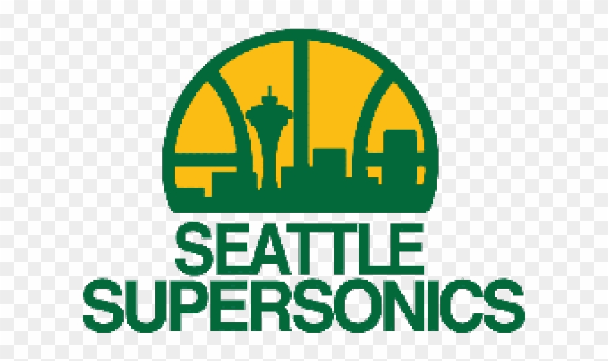 Oklahoma City Thunder Clipart Old - Seattle Supersonics Logo - Png Download 76e7dd761912