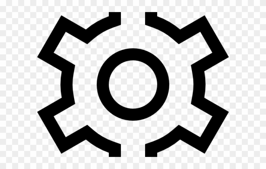 Gears Clipart Gear Outline - Windows 10 Settings Icon - Png Download