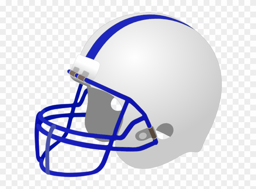 Download White And Blue Football Helmet Clipart Png Download 3399326 Pinclipart