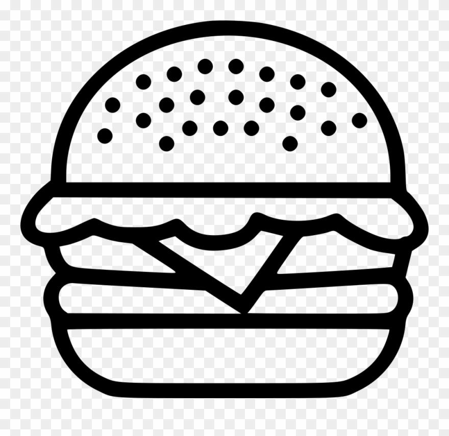 Hamburger Burger Food Junk Beef Chicken Png - Burger Icon Png Clipart