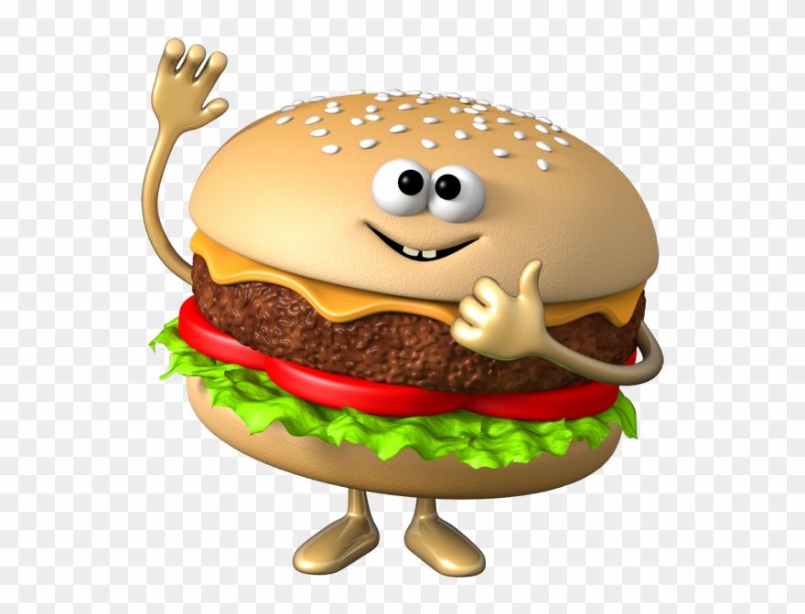 Hamburger Clipart Vegetable Burger - Burger Cartoon - Png Download