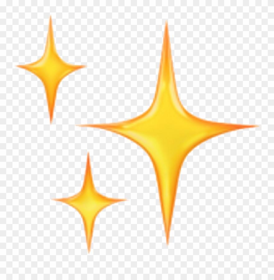 Star Cute Stickers Emoji Emoticon Emojisticker Iphone - Sparkle