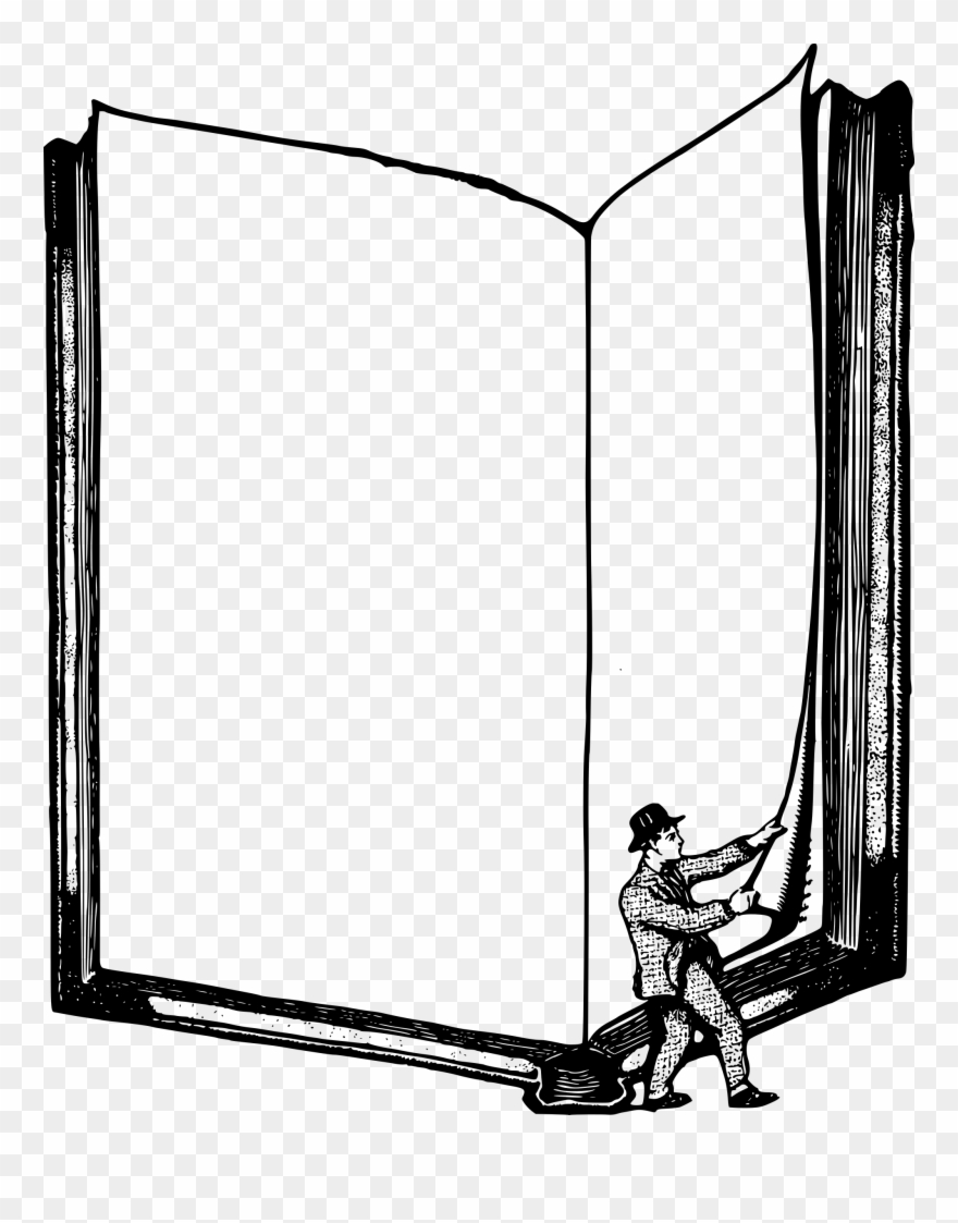 Horizontal book. Frame clipart free png