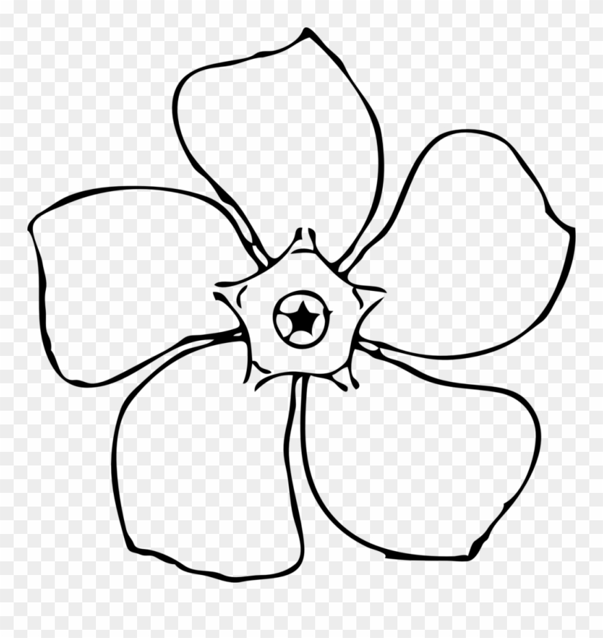 Royalty Free Stock Flower Drawing Template At Getdrawings Jasmine Flower Clip Art Png Download 349385 Pinclipart