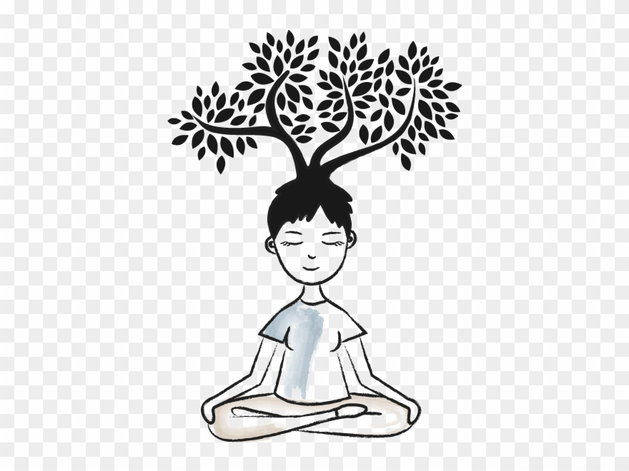 Relax Clipart Mindful Breathing - Mindfulness Clipart Black And ...