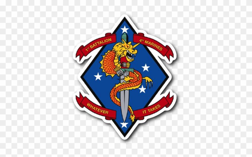 USMC Marine Security Guard Battalion  |1st Battalion 4th Marines Logo