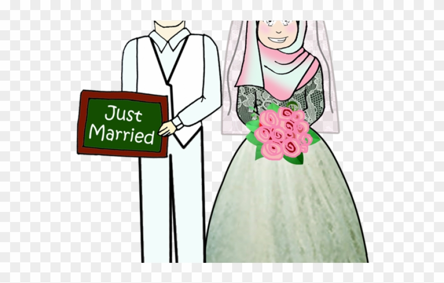 Sad Clipart Marriage - Clipart Wedding Muslim Png