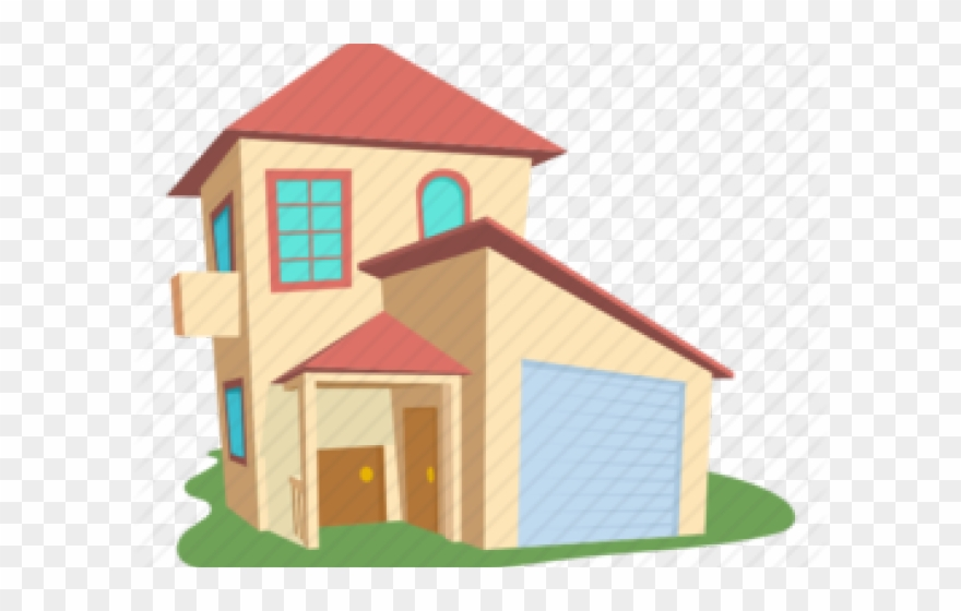 Villa Clipart Pucca House Modern House Cartoon Png