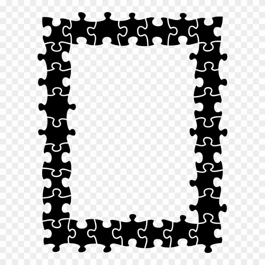 Medium Image - Frame Jigsaw Puzzle Border Clipart (#3413761