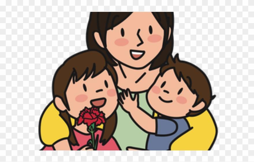 Sad Clipart Mum Ibu Dan Anak Kartun Png Download 3419297 Pinclipart