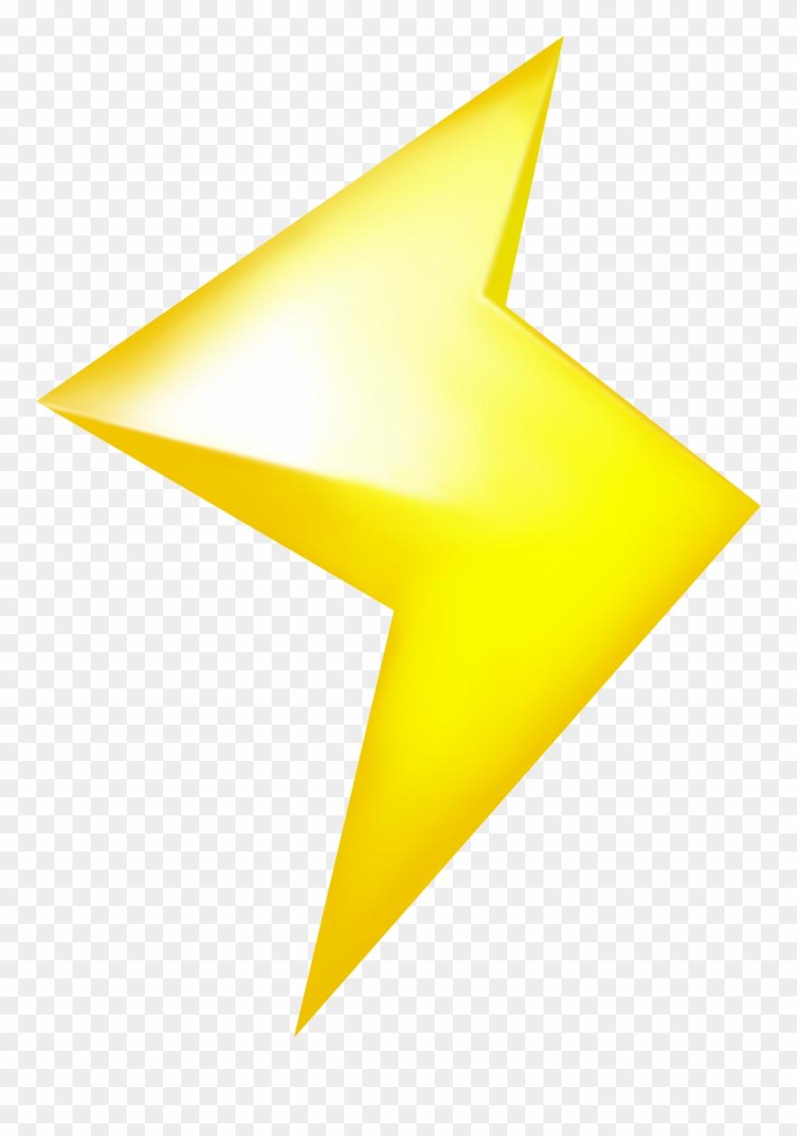 Clipart Lighting Bolt Mario Kart Lightning Png Transpa