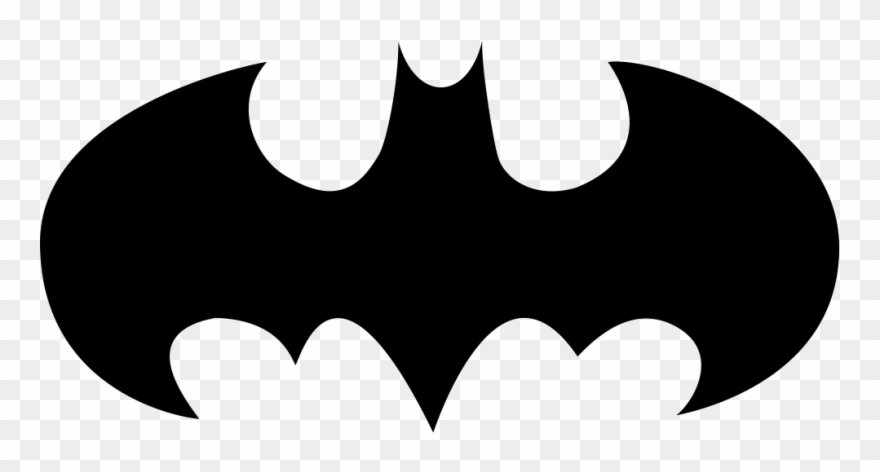 Batman symbol cool. Bat with open wings