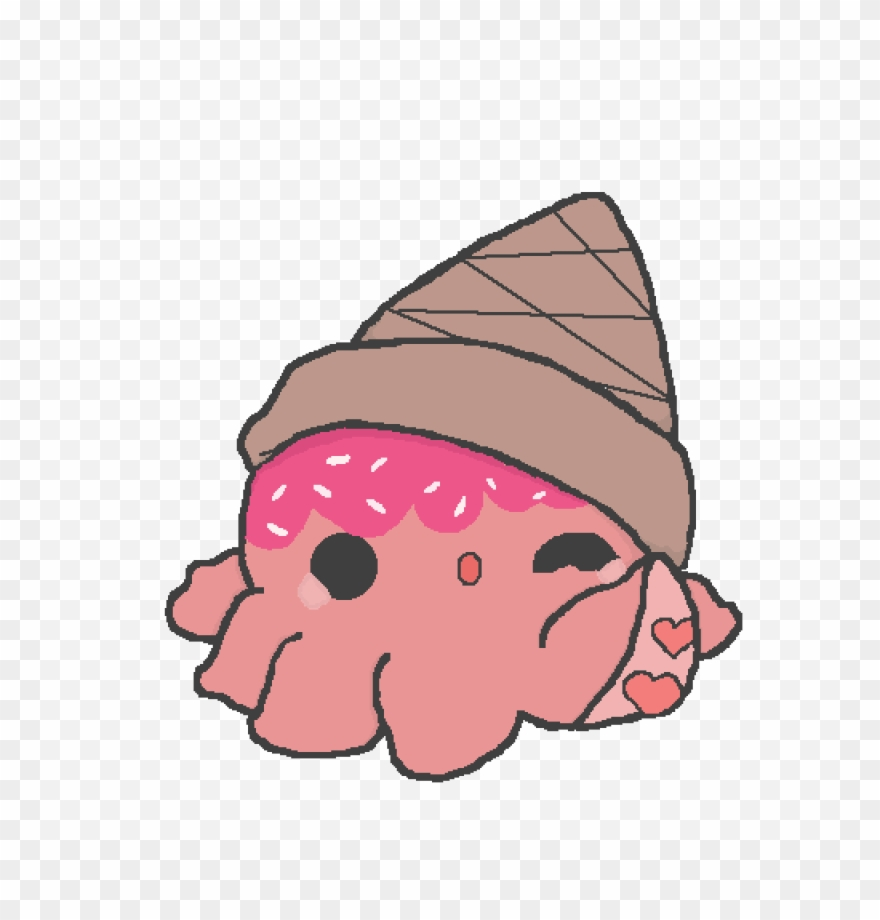 Kawaii Ice Cream Octopus Kawaii Octopus Png Clipart