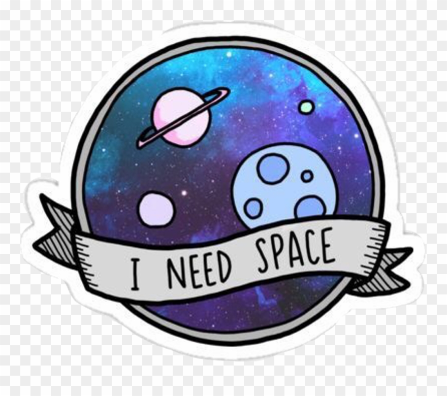 Space Galaxy Sticker Stickers Tumblr Spacetumblr Tumblr Need Space Sticker Clipart 3430605