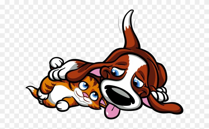 hund und katze  cartoon clipart 3443852  pinclipart