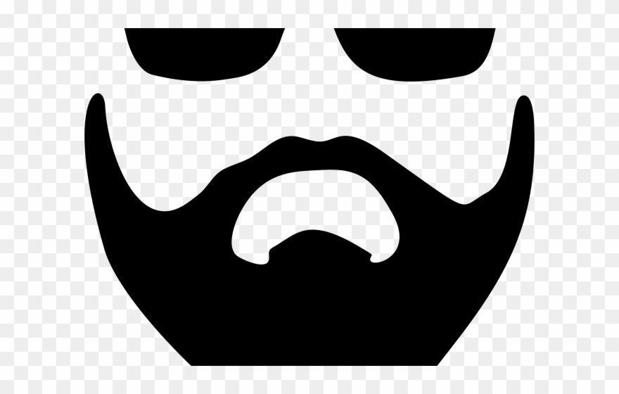 photograph regarding Printable Beard referred to as Beard Clipart Picsart - Printable Beard Template - Png