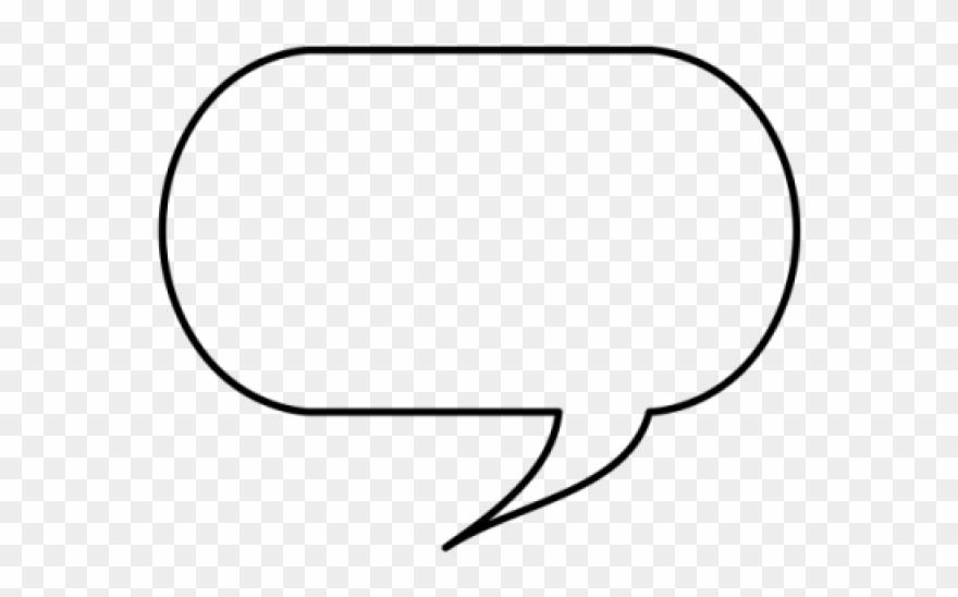 Speech Bubble Clipart Word Bubble - Line Art - Png Download