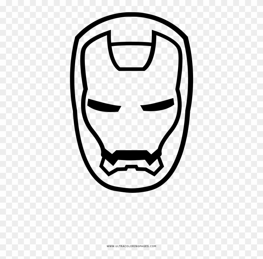 Iron Man Coloring Page Cara Do Homem De Ferro Para Colorir