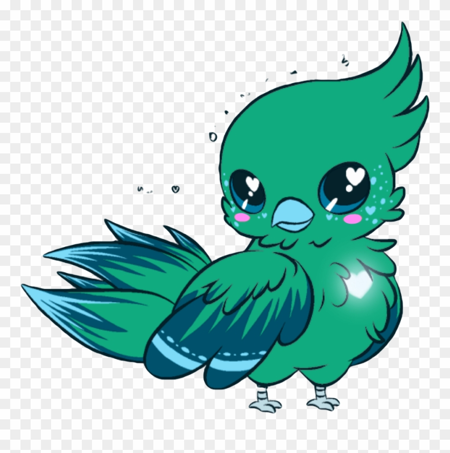 Drawn Parrot Kawaii Cartoon Kawaii Cute Birds Clipart 3453777