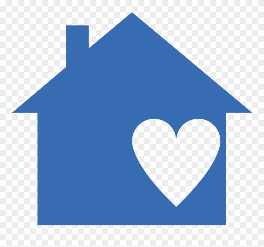 Super Bluehouse 01 Blue House With Heart Clipart 3455468 Home Remodeling Inspirations Genioncuboardxyz