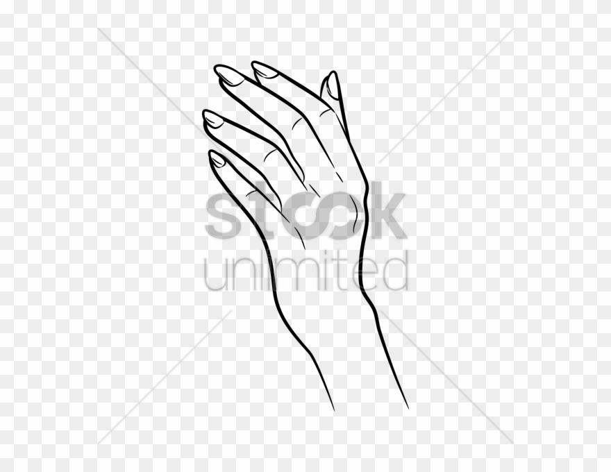 Hand Vector Png Female Hand Line Art Clipart 3459285 Pinclipart Female hand gun silhouette, hand holding pistol silhouette, png. hand vector png female hand line art