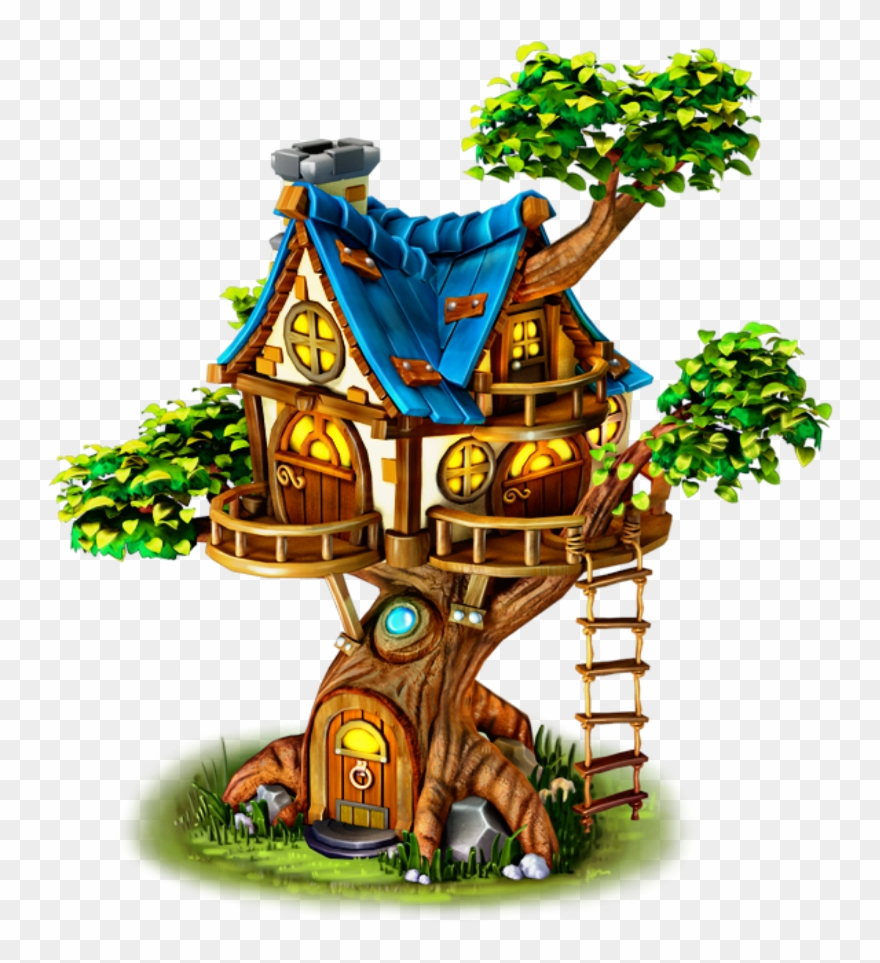 Tree House Cartoon Png Clipart (#3464016) - PinClipart