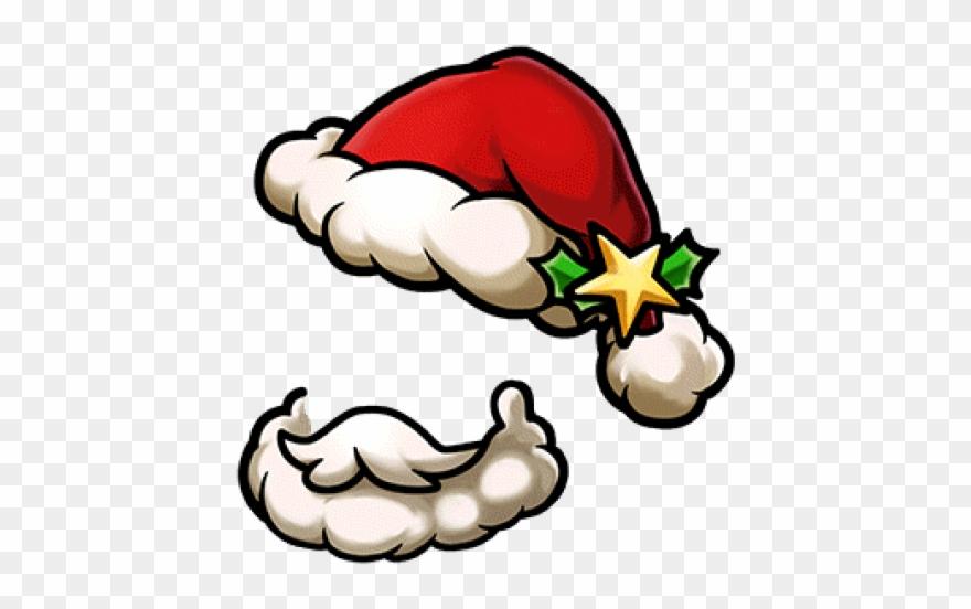 Christmas Hat Cartoon Transparent.Beard Clipart Santa Hat Beard Cartoon Santa Beard Png