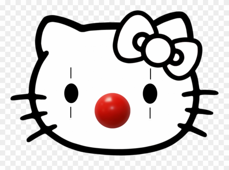 Clown Sticker Hello Kitty Coloring Pages Clipart 3467670