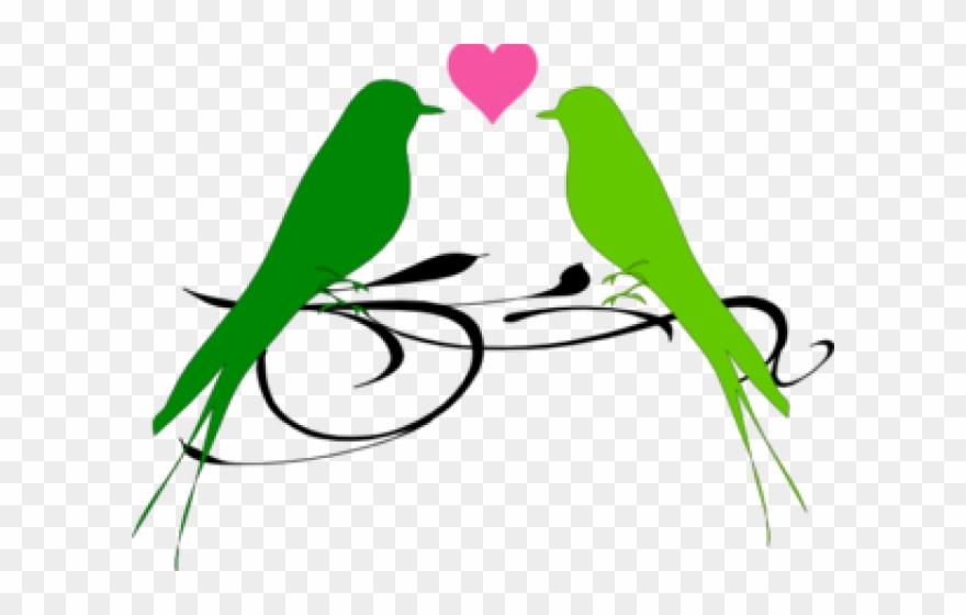 Love Birds Clipart Parrot - Png Love Birds Wedding Clip Art