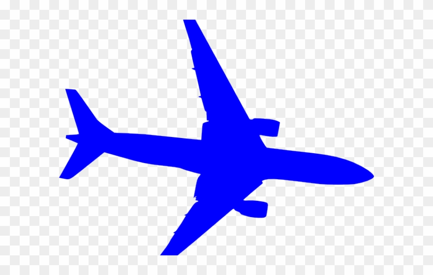 Airplane blue. Plane clipart angel vector