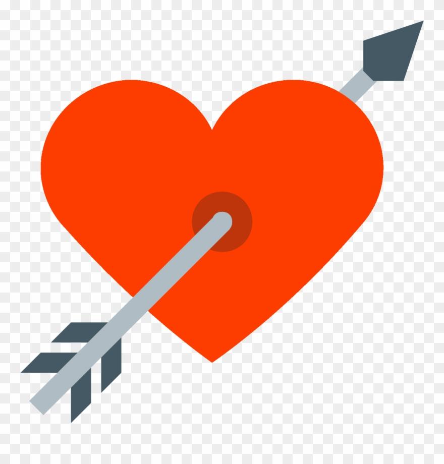 Coeur Png Coracao Com Flecha Png Clipart 3486065
