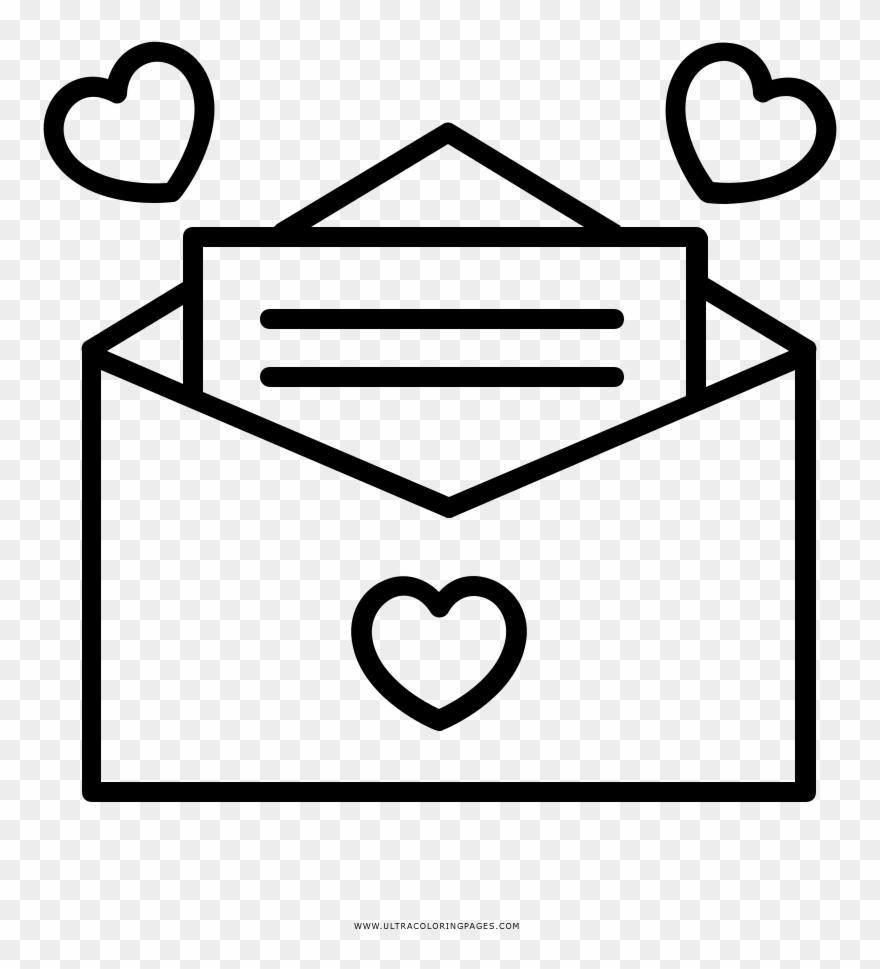 Valentinstag Ausmalbilder   Liebesbrief Symbol Clipart 30 ...