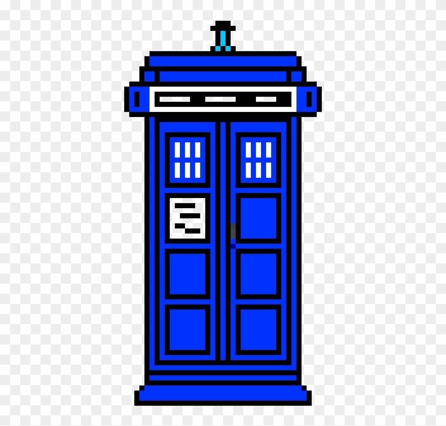 The Tardis Easy Pixel Art Minecraft Clipart 3491480 Pinclipart