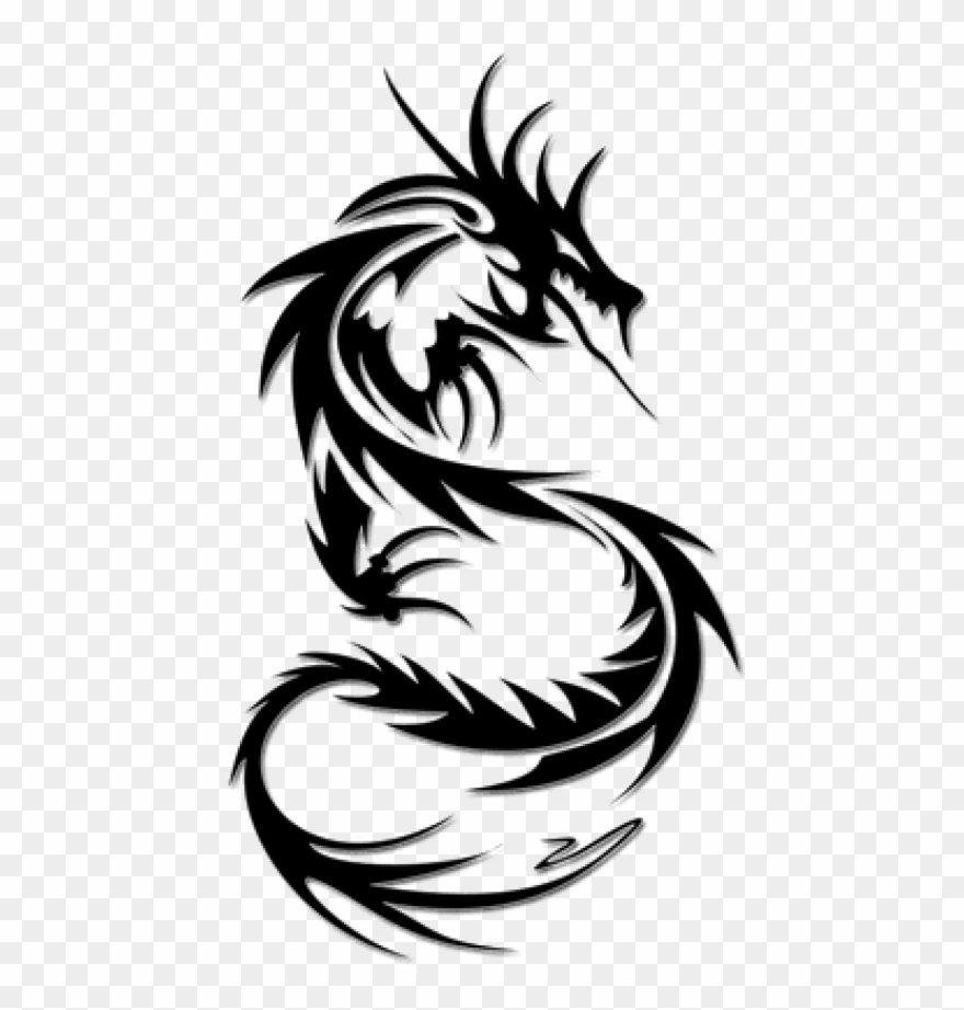 4be7b4b35 Free Png Download Tattoo Png Images Background Png - Simple Dragon Tattoos  Designs Clipart