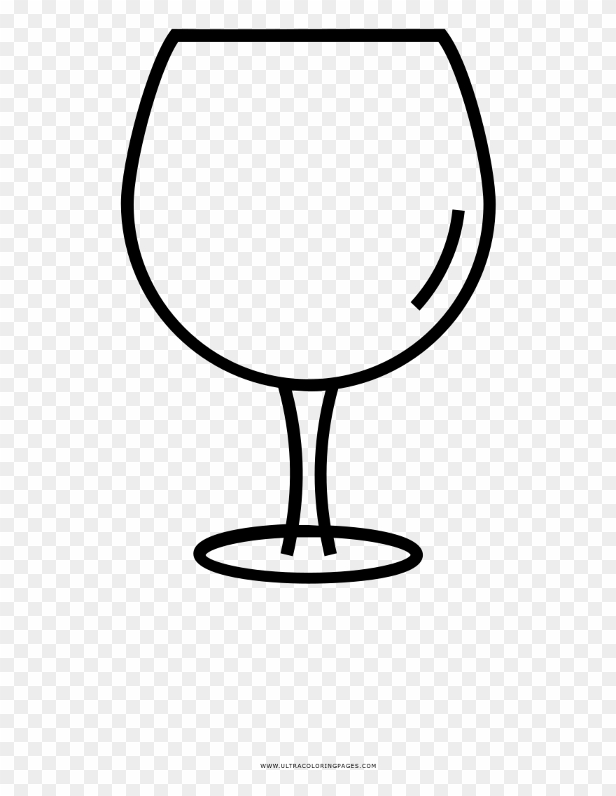 Stemware Coloring Page - Wine Glass Png Drawing Clipart ...