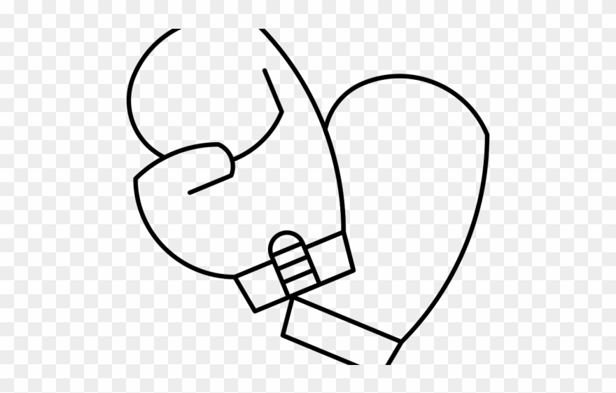 Boxing Gloves Clipart Coloring Page - Boxing - Png Download ...