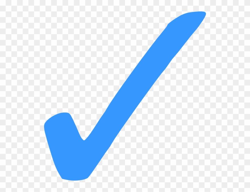 Jpg Transparent Checkmark Clipart Happy - Check Mark Symbol Blue