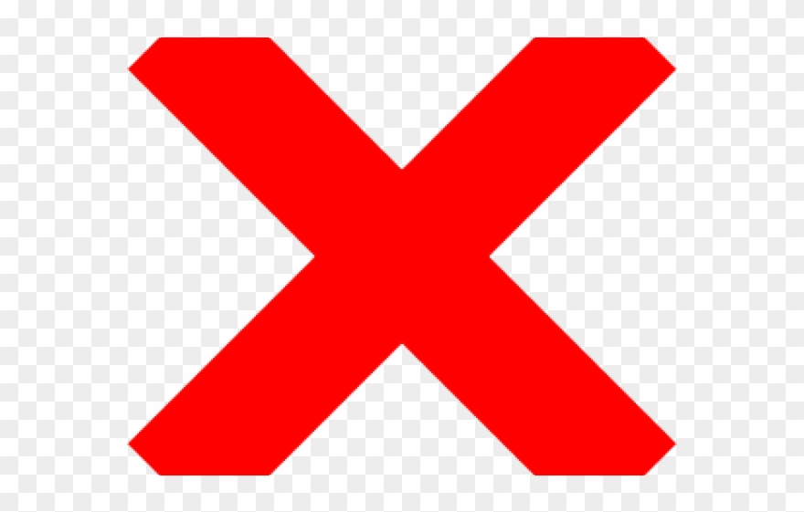X red. Cross clipart high resolution