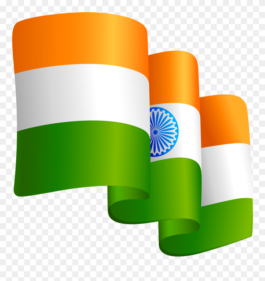 Waving India Flag Transparent Png Clip Art Image - Clipart India Flag Png