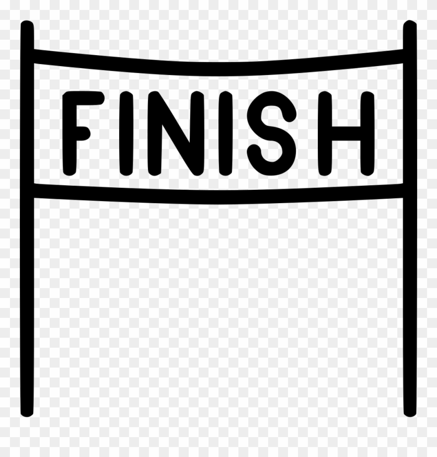 Finish Line Clipart End Race Finish Icon Png Download 357442 Pinclipart