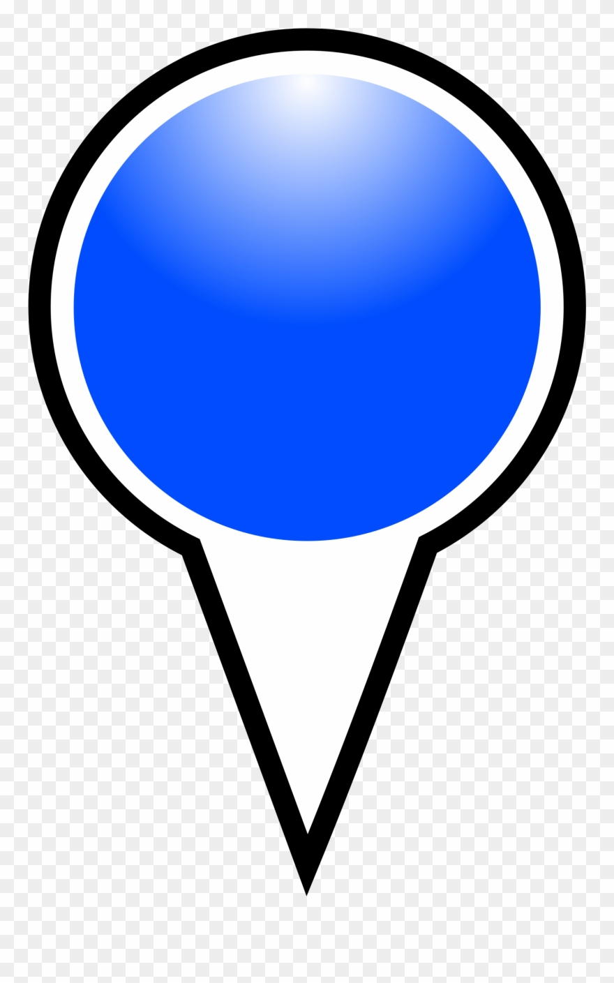Medium Image - Marker Google Maps Blue Clipart (#357675